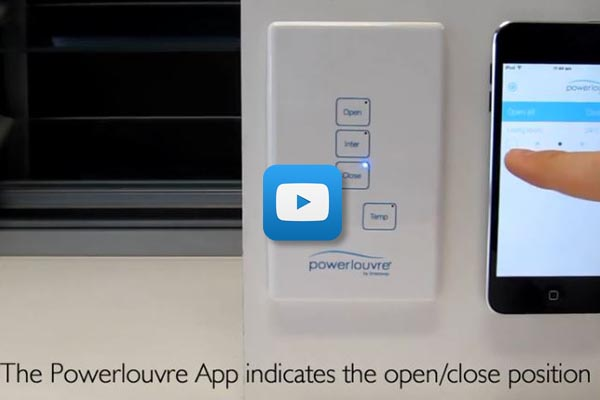 Breezway Powerlouver Apptivate control demonstration
