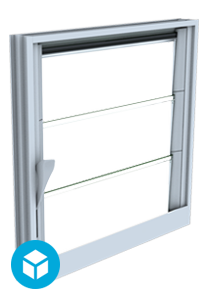 Makani Window 3D interactive model Closed