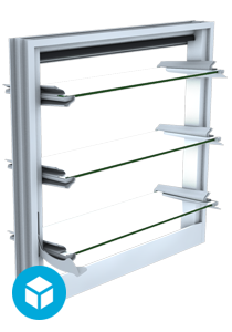 Makani Window 3D interactive model Open