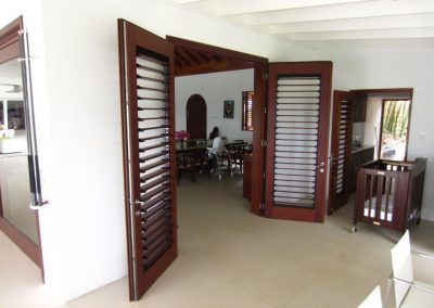Breezway louvers inside door panels