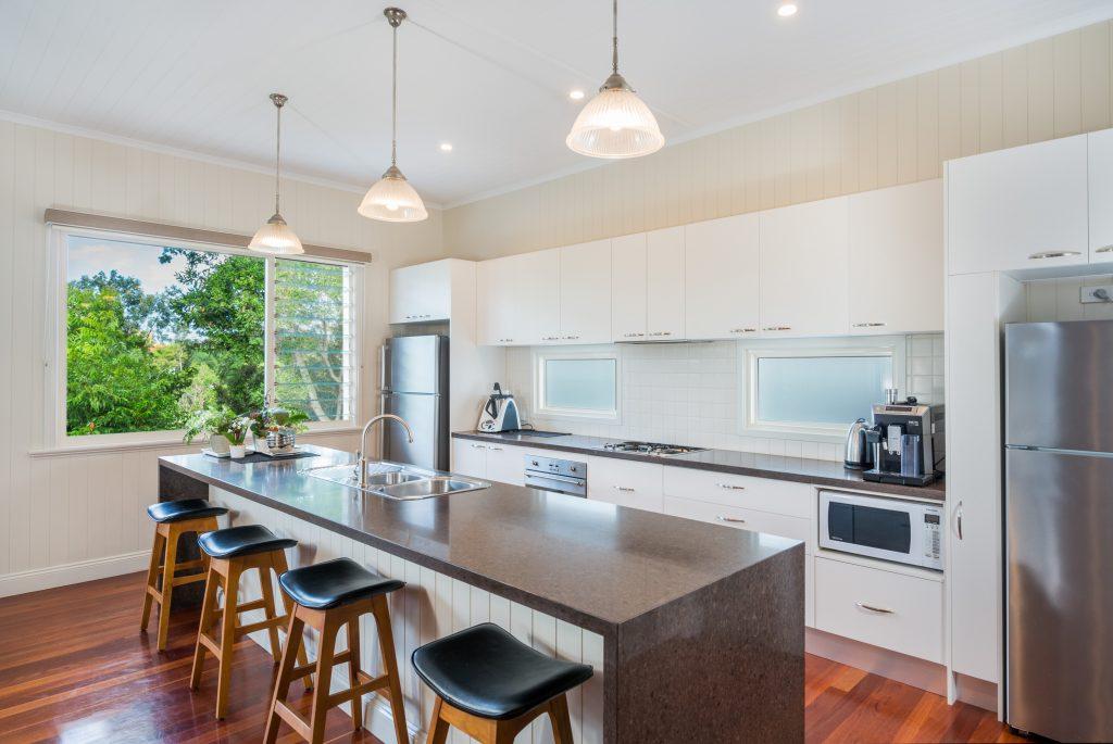 Breezway louvers create a more spacious environment