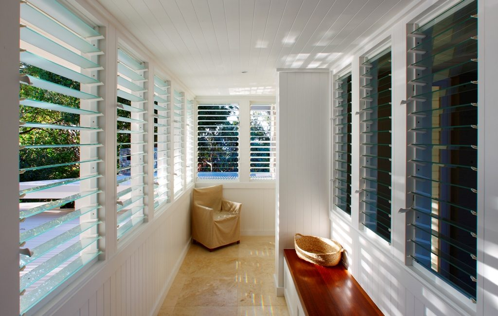 Breezway Louvers in outdoor rooms allow you to extend your outdoor living time