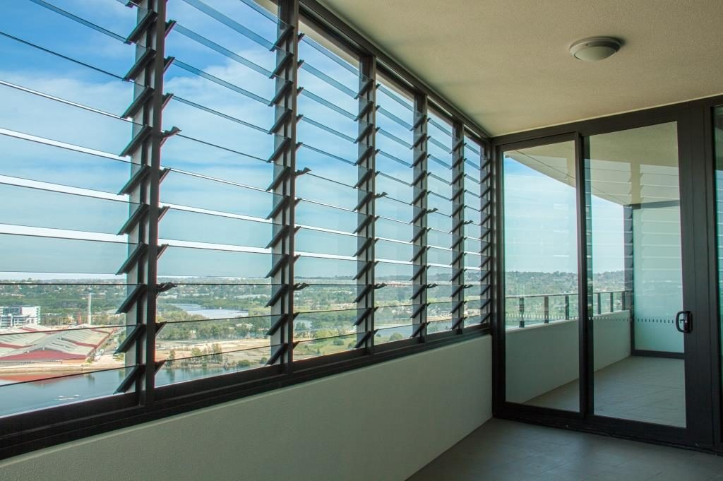Breezway Louvers offer a sound barrier to internal living rooms
