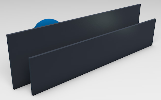 <strong>Powder Coated Aluminum</strong><p>Provides privacy with ventilation.</p>