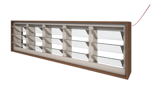Powerlouver Window Opening Configurations